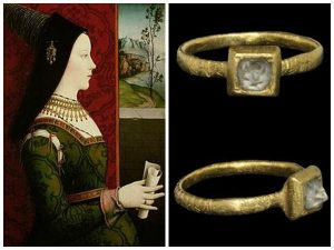 Maria di Borgogna's engagement ring