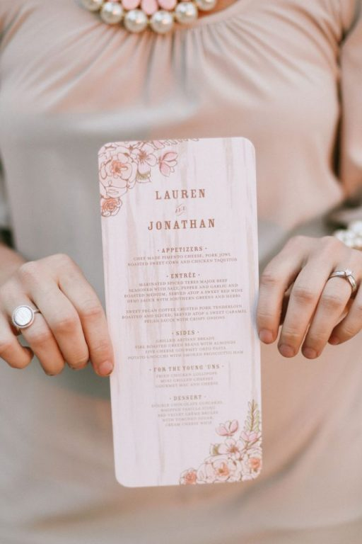 menù micro-wedding