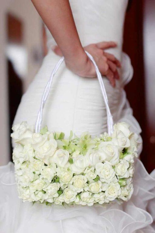 bouquet a forma di borsa